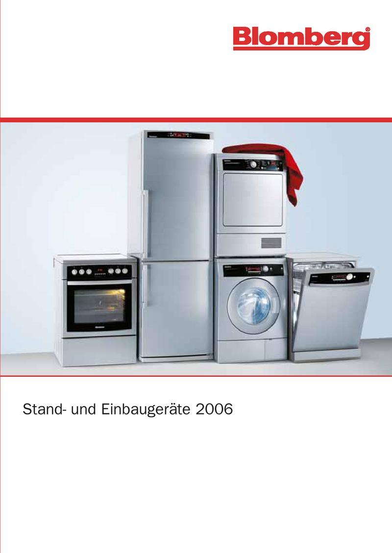 Blomberg Haushaltsgeräte 2006 von BEKO Deutschland GmbH