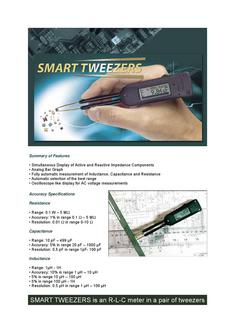 Messpinzette Smart Tweezer