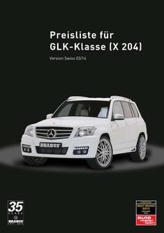 GLK-Klasse X 204 Preisliste CH 2014