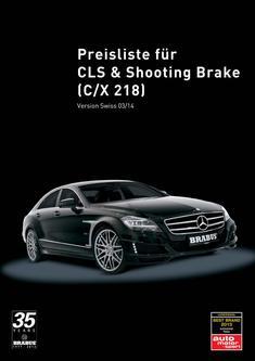 CLS-Klasse Tuning Preisliste CH 2014