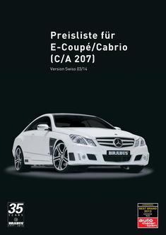 E-Klasse Coupé Tuning Preisliste CH 2014