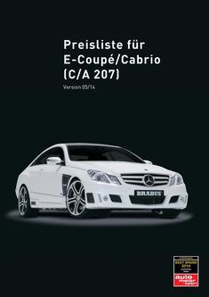 E-Klasse Coupé Tuning Preisliste 2014