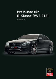 E-Klasse Tuning Preisliste 2014