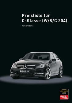 C-Klasse Tuning Preisliste 2014