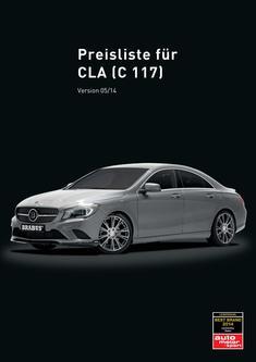 CLA-Klasse Tuning Preisliste 2014