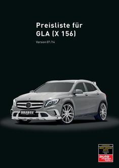 GLA-Klasse X 156 Tuning Preisliste 2014