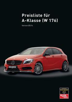 A-Klasse Tuning Preisliste 2014