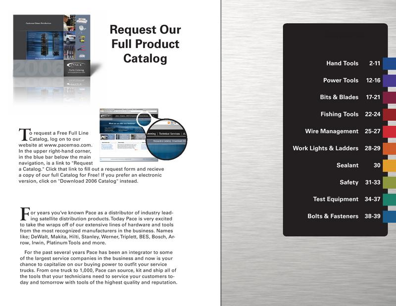 Tools Catalog von Pace Electronics
