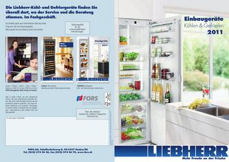 Liebherr Einbaugeräte Kühlen & Gefrieren 2011