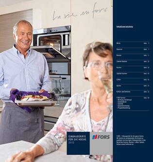 FORS Einbaugeräte für die Küche 2013