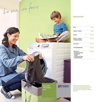FORS Waschen / Trocknen 2013