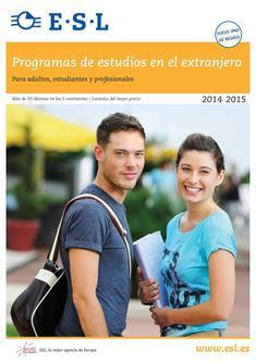 Programas de estudios en el extranjero 2014/2015 (Spanisch)
