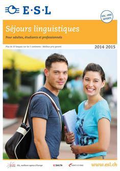 Séjours linguistiques 2014/2015