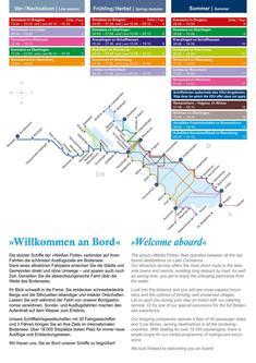 Schiffsfahrplan Bodensee und Rhein 2014