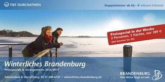 Winterliches Brandenburg Preisspecials & Arrangements 2016/2017