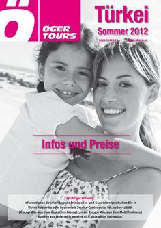 Preisliste Türkei Reisen - Sommer 2012