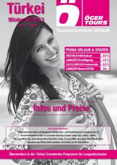 Türkei Reisen Preisliste Winter 2012/2013
