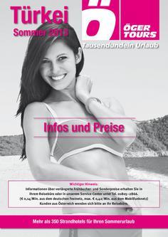 Türkei Reisen Preisliste Sommer 2013