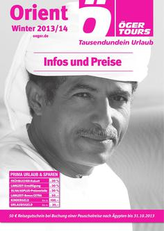 Preisliste Orient - Winter 2013/2014 (November - April)
