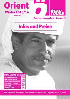 Preisliste Orient - Winter 2013/2014 (November - April)
