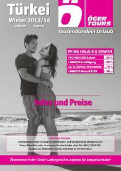 Preisliste Türkei - Winter 2013/2014 (November - März)