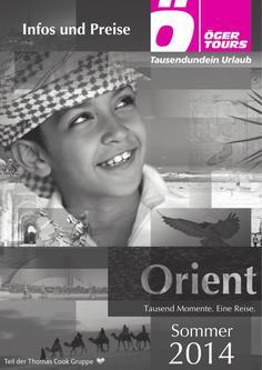 Preisliste Orient - Sommer 2014 (Mai - Oktober)