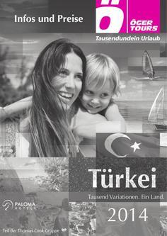 Preisliste Türkei - Sommer 2014 (April - Oktober)