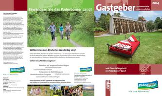 Gastgeberverzeichnis Paderborner Land 2014