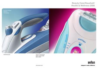 Braun Verbraucherprospekt Beauty Care/Haushalt/Health & Wellness 2006