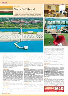 Gloria Golf Resort - Region Belek