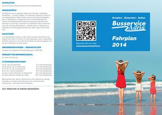 Busservice Adria Fahrplan 2014
