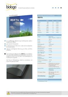 Abschirmfolie- Fenster RDF76 2012