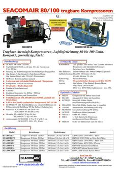 SeaComAir Kompressor 80/100/140/215/265 2014