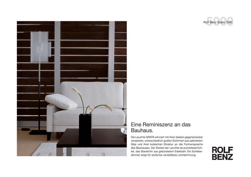 Collection 5000 Stehleuchte GRATA von Rolf Benz