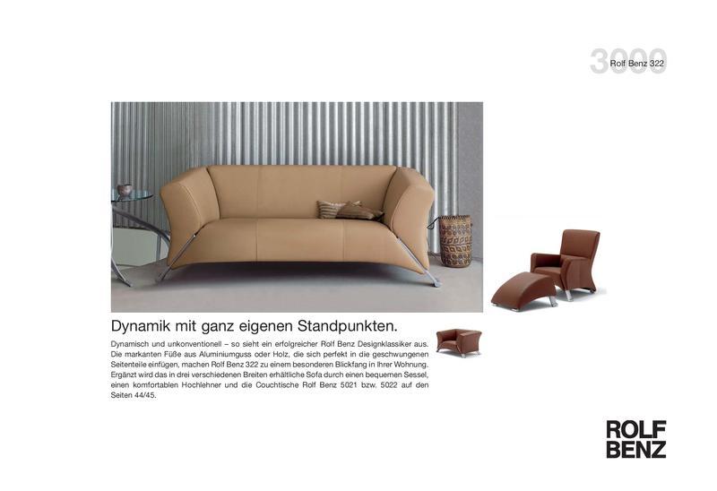 Collection 3000 Sofa 322 Von Rolf Benz