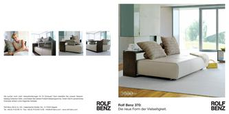 schlafsofa rolf benz in collection 3000 schlafsofa 370 von rolf benz. Black Bedroom Furniture Sets. Home Design Ideas