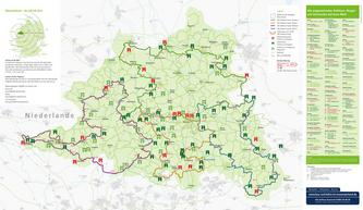 Rad-Planungskarte 100 Schlösser Route 2013