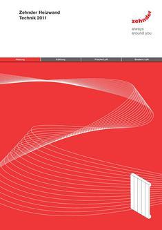 Technische Broschüre Zehnder Heizwand
