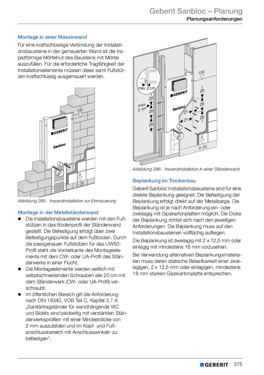 geberit sanbloc geberit kombifix voor de massiefbouw with. Black Bedroom Furniture Sets. Home Design Ideas
