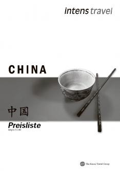 Preisliste zu Intens Travel China Katalog