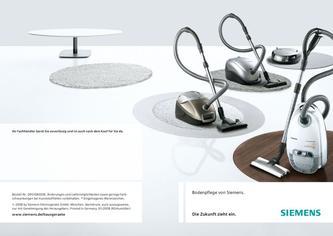 siemens synchropower hepa 1800 w in bodenpflege 2009 von siemens electroger te deutschland. Black Bedroom Furniture Sets. Home Design Ideas