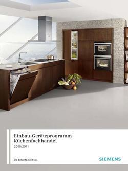 Einbaugeräte Küchenfachhandel 2011