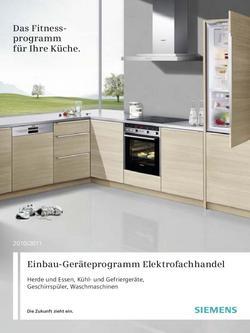 siemens ku 16 la 41 in einbauger te elektrofachhandel 2011 von siemens electroger te deutschland. Black Bedroom Furniture Sets. Home Design Ideas
