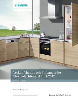 Einbaugeräte Programm Elektrofachhandel 2012