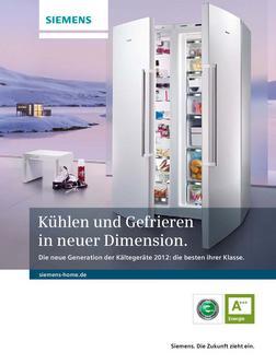 ka 62 siemens side by side in k ltekompetenz prospekt 2012 von siemens electroger te deutschland. Black Bedroom Furniture Sets. Home Design Ideas