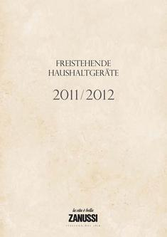 Freistehende Haushaltgeräte 2011/2012