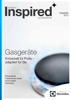 Gasgeräte - Einbau- und Standmodelle 2012