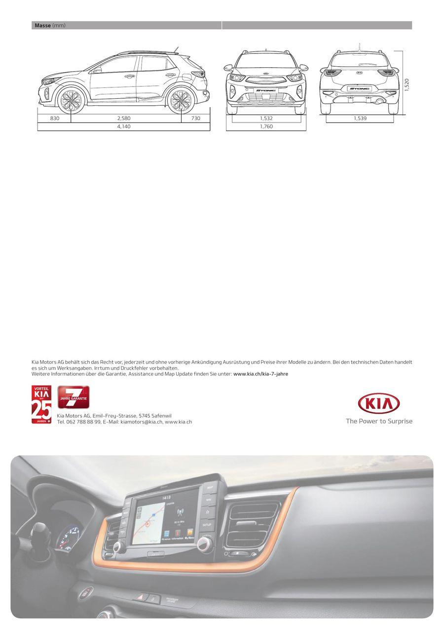 KIA Stonic Preisliste 2019 von Kia Motors Schweiz