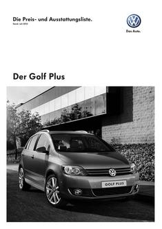 VW Golf Plus Juli 2010