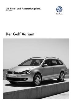 VW Golf Variant Juli 2010